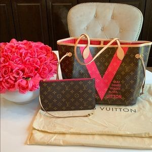 LOUIS VUITTON Limited Edition V Grenade Neverfull